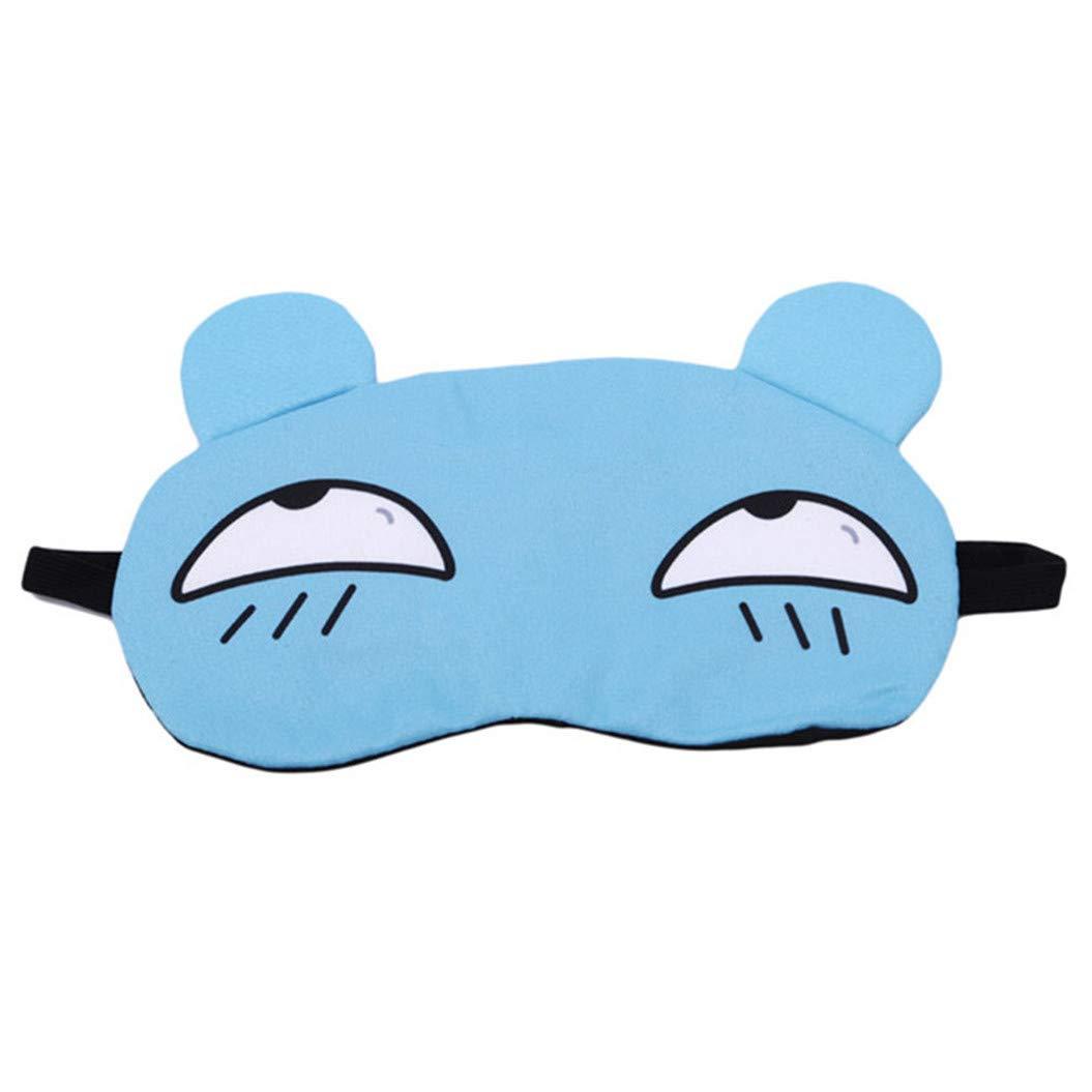 LZIYAN Sleep Masks Cartoon Sleep Eye Mask Soft Cute Eyeshade Eyepatch Travel Sleeping Blindfold Nap Cover,Blue
