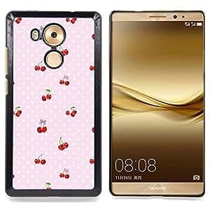 - cherry polka dot berries pink pattern - - Modelo de la piel protectora de la cubierta del caso FOR Huawei Mate 8 RetroCandy