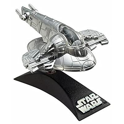 Hasbro Titanium Series Star Wars 3 Inch Vehicle Silver Slave 1: Toys & Games