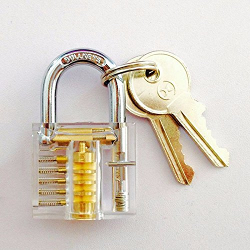 Padlocks Keys Locksmith Practice Set Perfect Smooth Working Condition Clear White