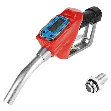 Pistola de Gasolina Medidor de Flujo, Pistola de Boquilla de Combustible Digital, Tamaño Pequeño, Medición Precisa, para Medir Flujo de Fluido de Tubería: ...