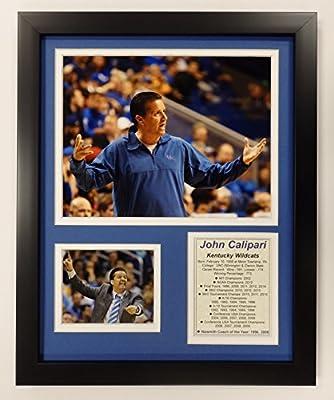 "John Calipari - Kentucky Wildcats 11"" X 14"" Framed Photo Collage By Legends Never Die, Inc."