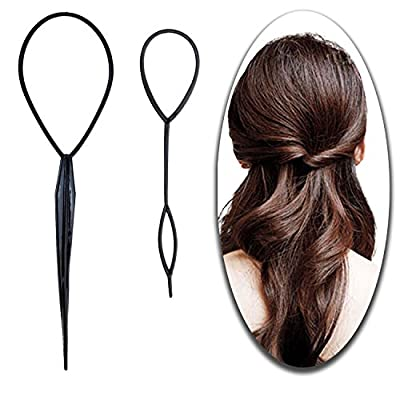 Hair Styling Hairstyling Set of 2pcs Topsy Tail Makers Ponytails Braiding Loops Braiders Bun Makers Shaping Tools