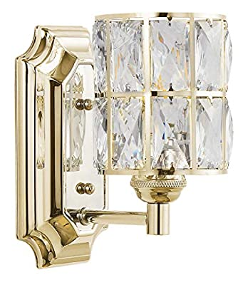 Doraimi 1/3 Light,Prism Crystal Wall Sconce, Modern and Concise Style Wall Light Fixture with Prism Glass Crystal Shade for Bathroom,Hallway,Powder Room,Living Room