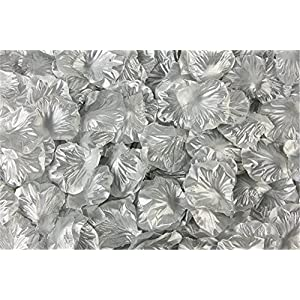 Helenhouse 3000 PCS Artificial Silk Flower Silver Rose Petals for Wedding Party Bridal Decoration 1