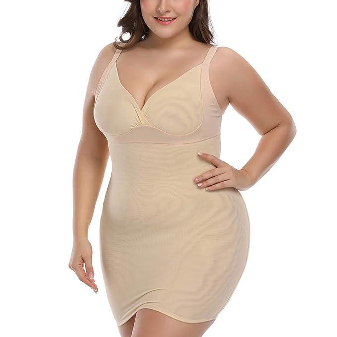 Shapewear Slip for Women Plus Size Full Slip for Under Dresses Full Body  Shaping Control Slip