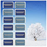 """MightyMicroCloth Microfiber Eyeglass Cleaning Cloths – Vinyl Travel Pouch – Lens Cleaner for Glasses, Camera Lenses, Tablets, Phone Screens, & Electronics – 12 Pack Royal/Blue (6""""x7"""")"""