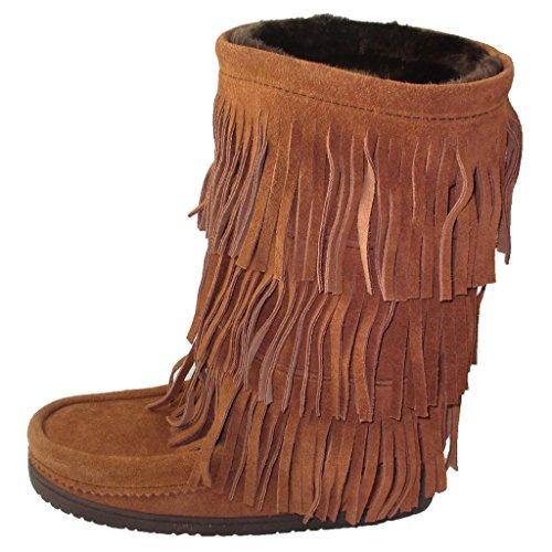 Manitobah Mukluks Women's Buffalo Dancer Snow Boot (Copper) (9) by Manitobah Mukluks (Image #3)
