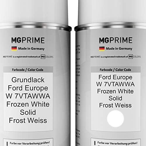 Mg Prime Autolack Sprühdosen Set Für Ford Europe W 7vtawwa Frozen White Solid Frost Weiss Grundlack Basislack Klarlack Spraydose 400ml Auto