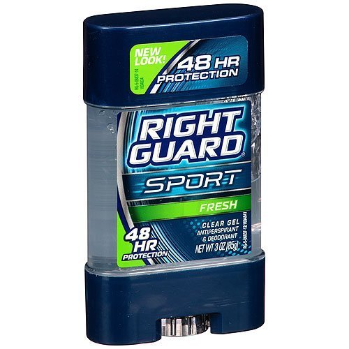 Right Guard Sport Antiperspirant and Deodorant, Clear Gel, Fresh, 3 Ounce (Pack of 4) by Right Guard
