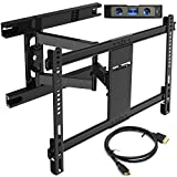 Everstone TV Wall Mount Bracket for Most 32-70 Inch Articulating Full Motion Mounts,LED,LCD and Plasma Flat Screen TVs,Curved TVs,With VESA 600 x 400 and 110LBS,HDMI Cable and Level,Fits 16'Studs