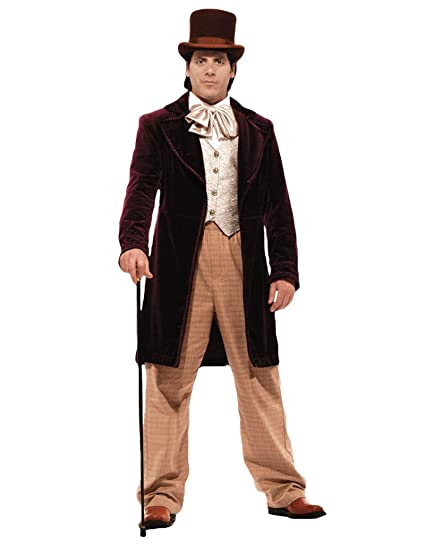 Victorian Men's Costumes: Mad Hatter, Rhet Butler, Willy Wonka Tabis Characters Mens Candy Man Theater Costume $399.99 AT vintagedancer.com
