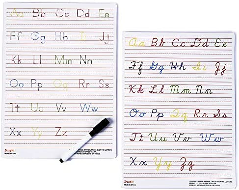 Amazon.com : Handwriting Practice Letter Tracing For Kids: Board For Cursive  & Printing Style With Dry Erase Marker For Preschooler - Reusable Wipe  Clean ABC Alphabet Learn To Write, 8.3 X 11