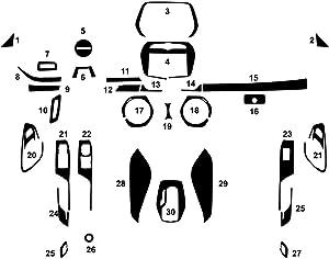 Rvinyl Rdash Dash Kit Decal Trim for Chevrolet Camaro 2016-2020 - Aluminum (Brushed Black)