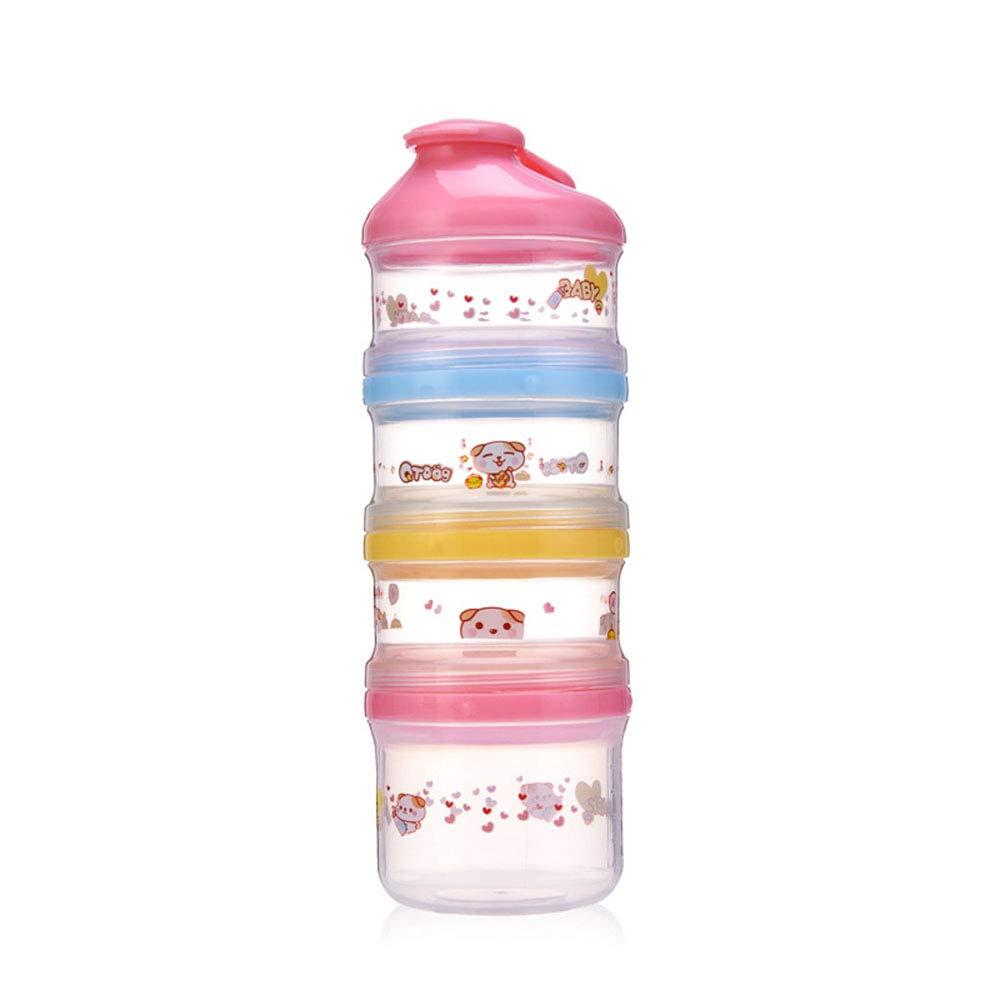 Caja de leche en polvo Fó rmula leche en polvo, dispensador de leche en polvo apilable y contenedor de almacenamiento para refrigerios - 4 alimentaciones, sin fugas de polvo Dispensador de leche cuadra wanlianer