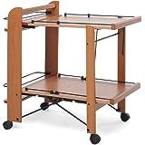 Foppapedretti newton carrello tavolino noce for Carrello portavivande foppapedretti