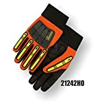 (12 Pair) X10 Knucklehead Gloves, Orange, Size Large (21242HO)