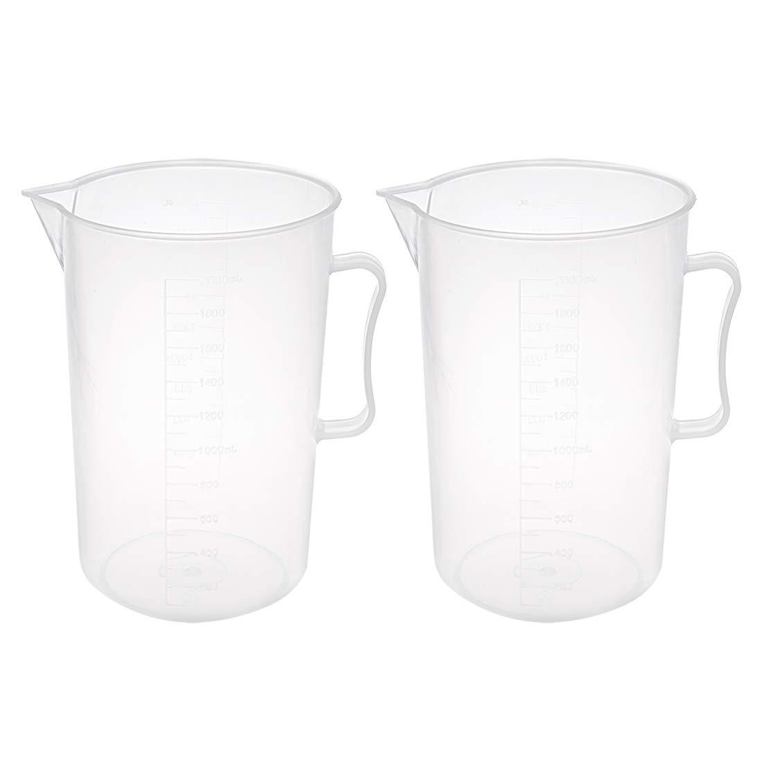 uxcell 9pcs Measuring Cups Set Kitchen Laboratory Plastic Liquid Water Measuring Cup Beaker Mug a17120600ux0308