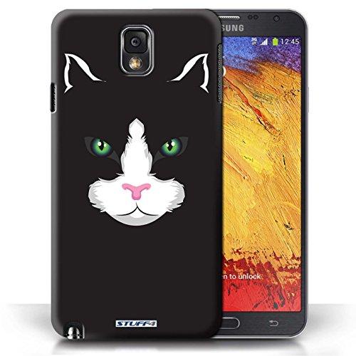 Etui / Coque pour Samsung Galaxy Note 3 / Chat noir conception / Collection de Museaux