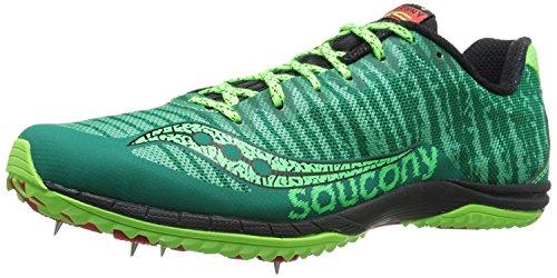 Saucony Mens Kilkenny XC5 Cross-Country Shoe, Green/Citron/Red, 47 D(M) EU/11.5 D(M) UK