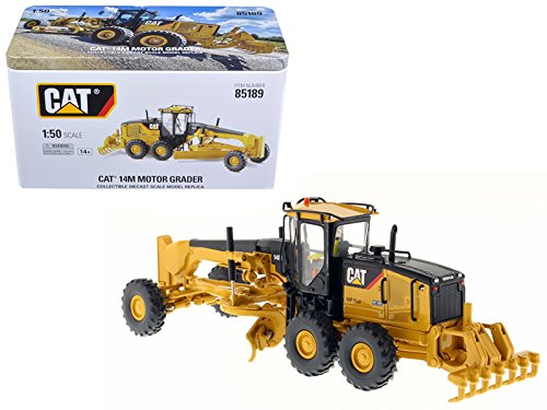 (CAT Caterpillar 14M Motor Grader with Operator High Line Series 1/50 Diecast Model by Diecast Masters 85189)