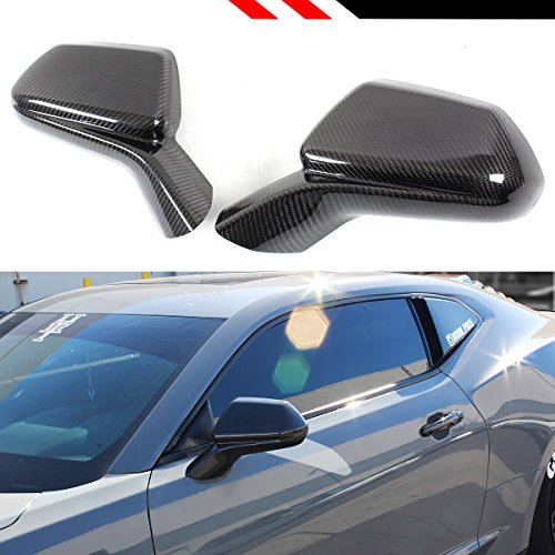 Cuztom Tuning Fits for 2016-2019 Chevy Camaro LT SS RS ZL1 Carbon Fiber Add-on Side View Mirror Cover