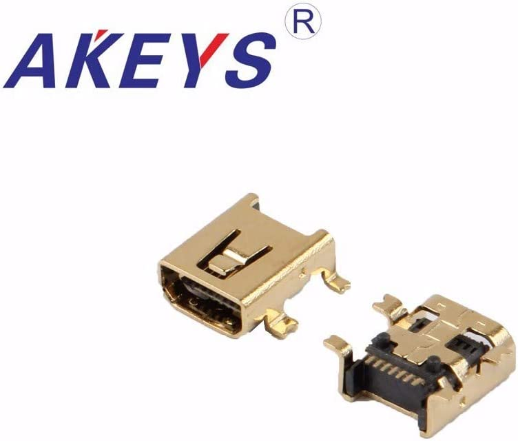 Gimax 20PCS USB-MU-010-F03 HW-MU-8F-02 gold-planting MINI USB 8PIM,F SMT wholely paste