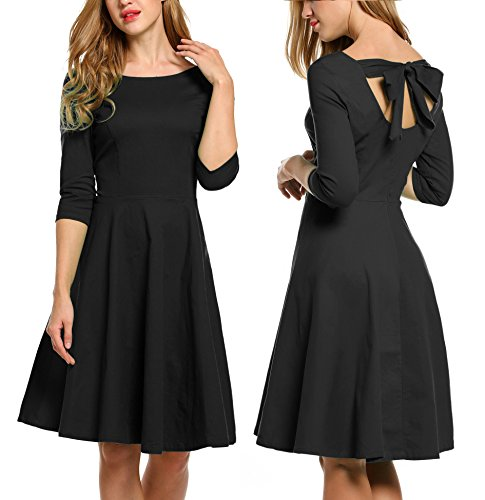 Buy black 1950s prom dress - 5