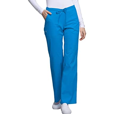 75487f1cedf Cherokee Luxe Women's Drawstring Scrub Pant X-Small Petite Blue Bell