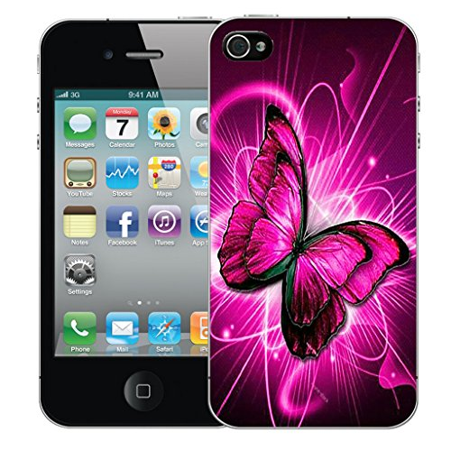 Mobile Case Mate iPhone 5s Silicone Coque couverture case cover Pare-chocs + STYLET - Twirling Butterfly pattern (SILICON)