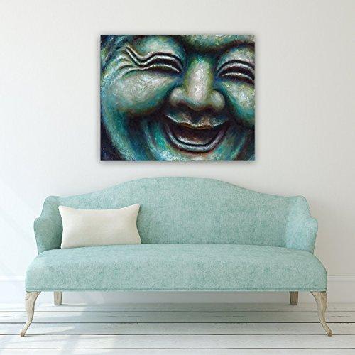 Serene, Peacful, Traniqul Spa, Sage Green Buddha #9 Gallery Wrapped Canvas Giclee Print
