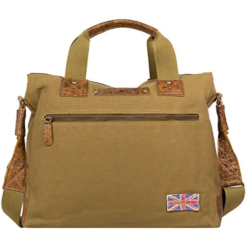 Greenburry White Spirit Fat Boy S Sac à main 37 cm compartiment tablette olivbraun