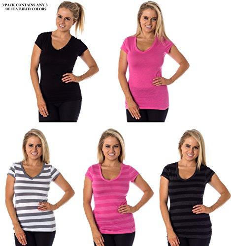 Women's Mossimo Short Sleeve V-Neck Cotton
