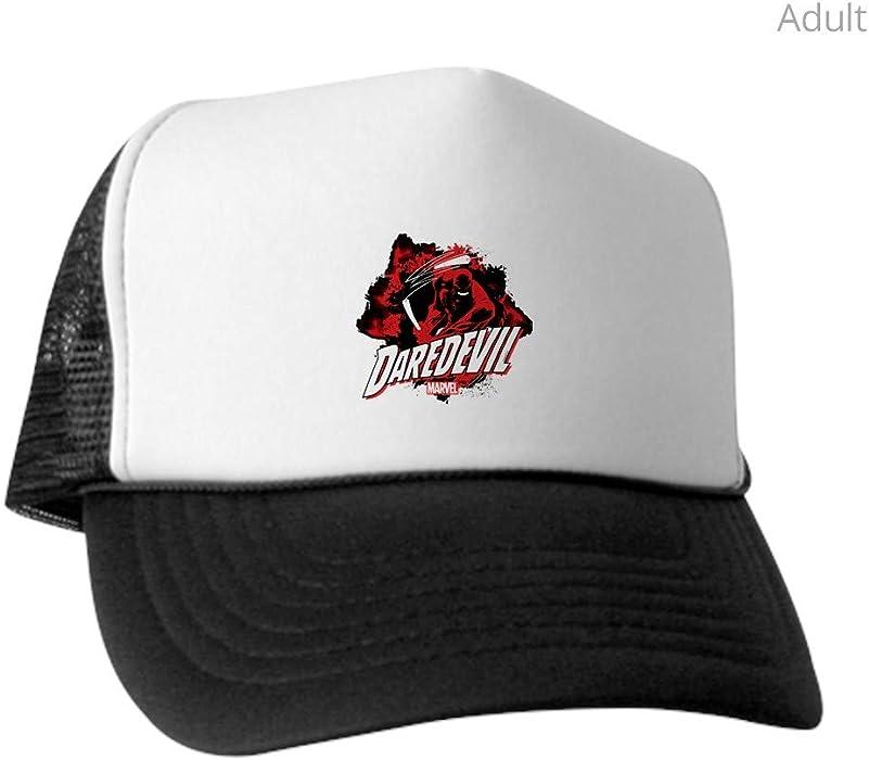 3ddb1689cd93c Amazon.com  CafePress Daredevil Action Pose Trucker Hat