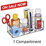 Medicine Cabinet Organization Small & Portable Box For Bathroom and Desk Storage, Ideal for Make up Supplies & Free Ebook by Stock4All