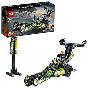 LEGO Technic Dragster Trasformabile inHotRod, Set da Costruzione2in1con Motore Pull-Back,Collezione Veicoli DragRacer, 42103  LEGO