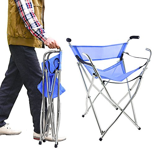 Frehsore Cane Walking Stick Chair Seat Folding 300 Lbs With Heavy Duty - Walk Seat Camping Travel Stool 2 Handle