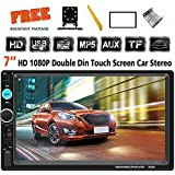 Double Din Car Stereo 7 Inch Touch Screen Headunit MP5 Player Receiver TF FM Radio Car Audio Compatible with Bluetooth Support Backup Rear View Camera Mirror Link