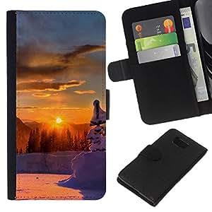 JackGot ( Tramonto Beautiful Nature 46 ) Samsung ALPHA G850 la tarjeta de Crédito Slots PU Funda de cuero Monedero caso cubierta de piel