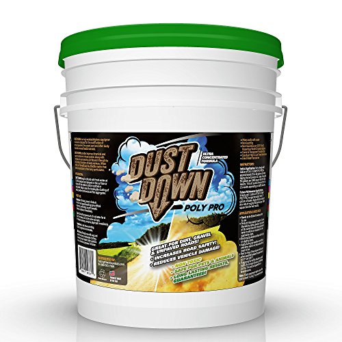 Green Gobbler Dust Down POLY PRO Polymer Road Dust Control | Dust Reducer for Driveway's, Roads & Construction Sites (5 Gallon Pail) by Green Gobbler