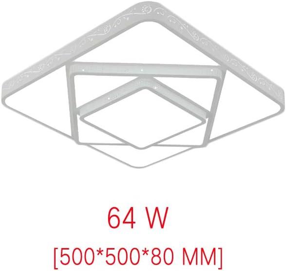 MIWOOHO LED Luz de techo 48W Regulable Dise/ño de moda moderna plaf/ón,L/ámpara de Bajo Consumo Techo para Dormitorio,Cocina,oficina,L/ámpara de sala de estar