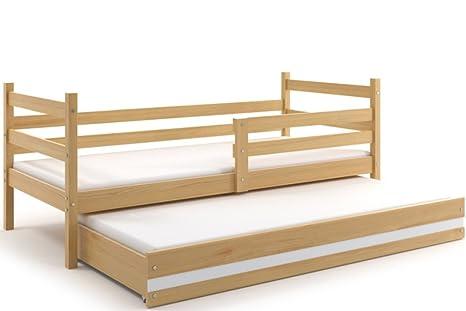 Letti Estraibili Per Bambini : Lettino per bambino eryk doppio letto con il secondo letto