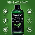 Antifungal Tea Tree Oil Body Wash - Made in USA - Helps Treat Eczema, Ringworm, Body Odor, Jock Itch, Acne, Toenail Fungus & Athlete - Best Antibacterial Soap For Skin Irritations.