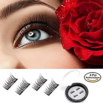83c36bf5693 PerfectoStore Dual Magnetic False Eyelashes - Ultra-thin 0.2mm Fake Lashes-  3D Handmade