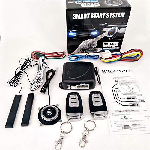 Partol Smart Key PKE Car Alarm Passive Keyless Entry Car Alarm System Engine Start Stop Push Button Remote Starter Shock Sensor Alarm