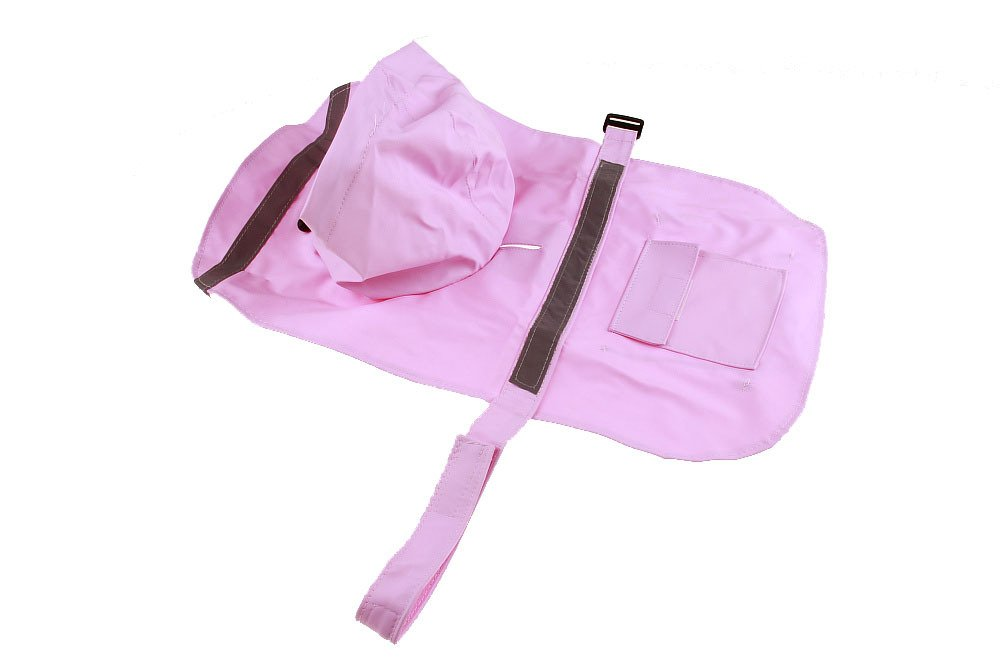 Size S Pink Color Pet Apparel Dog Clothes Dog Raincoat Pet Jacket Rain Pet Waterproof Coat Dog hoodies clothing by Wonder Pet Shop (Image #1)