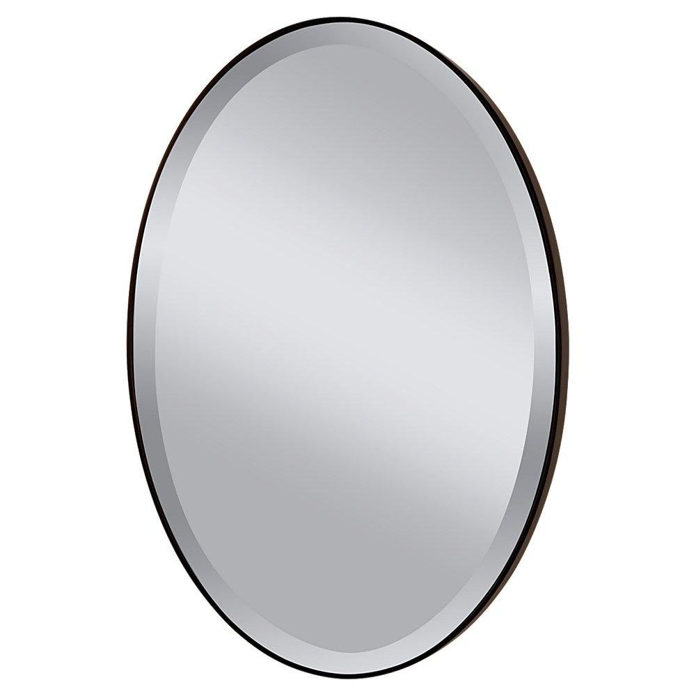 Oval mirrors furniture vintage large oval mirror original for Fancy oval mirror