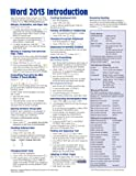 Microsoft Word 2013 Introduction Quick Reference Guide (Cheat Sheet of Instructions, Tips and Shortcuts - Laminated Card), Beezix Inc., 1936220814