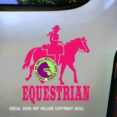 EQUESTRIAN Trail Rider Horse Vinyl Decal Sticker C