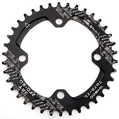 Narrow Wide Chainring 104BCD 38T CYSKY 4 Bolts Bike Single Chainring for 9 10 11 Speed, Perfect for Most Bicycle Road Bike Mountain Bike BMX MTB Fixie Track Fixed-Gear Bicycle (Round, (Single Speed Mtb)
